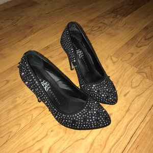 {Rock & Republic} Black Spike Heels size 6